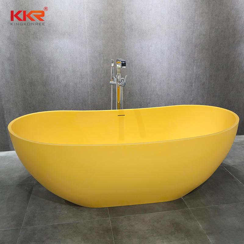 Elegant Composite Resin Stone Solid Surface Freestanding Bathtub KKR-B054