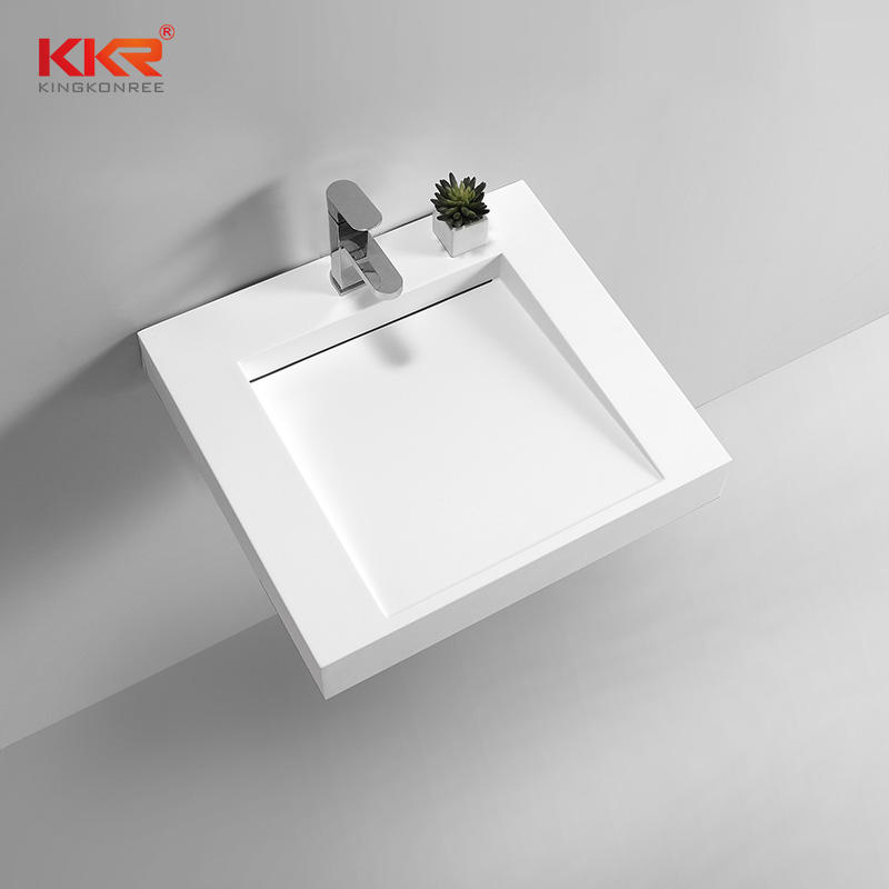 Hot Sales White Solid Surface Small Slope Wall Mount Wash Basin