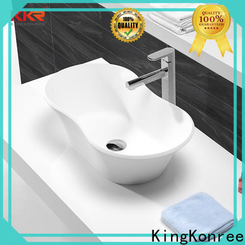 KingKonree thermoforming above counter sink bowl design for restaurant