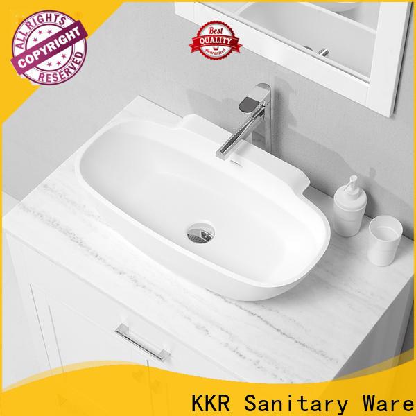 marble above counter vessel sink design for room