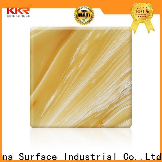 KingKonree quality white solid surface countertops sink for motel