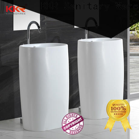 KingKonree artificial bathroom sink stand design for bathroom