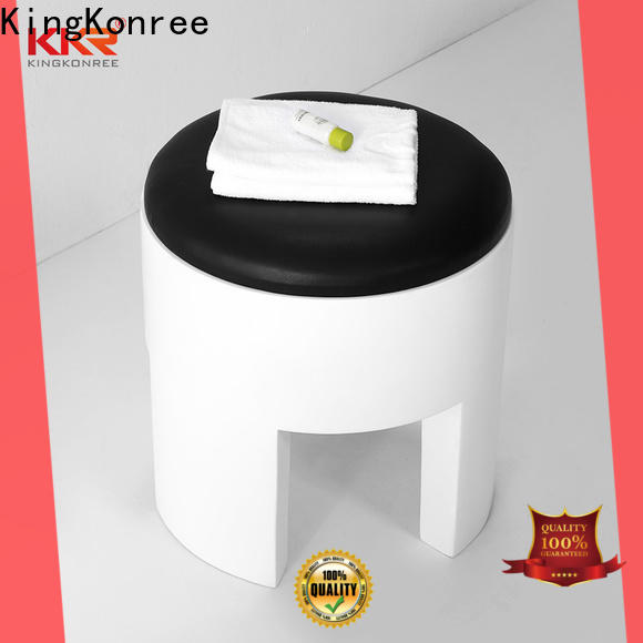 KingKonree artificial bathroom chairs and stools customized for restaurant