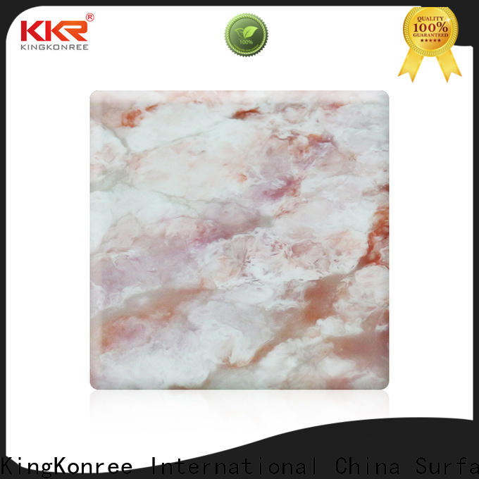 KingKonree acrylic solid surface sheet series for home