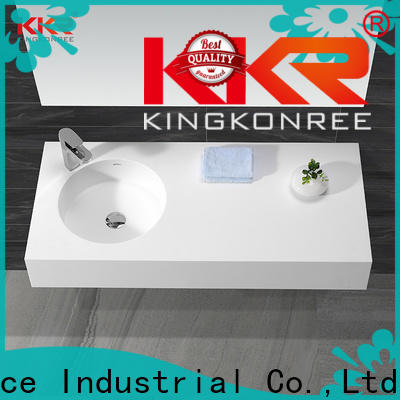concrete small wall hung basin manufacturer for hotel