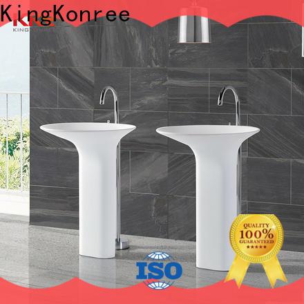 KingKonree pan shape floor standing basin customized for bathroom