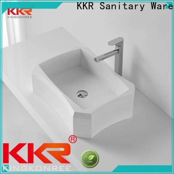 KingKonree approved above counter vessel sink supplier for hotel