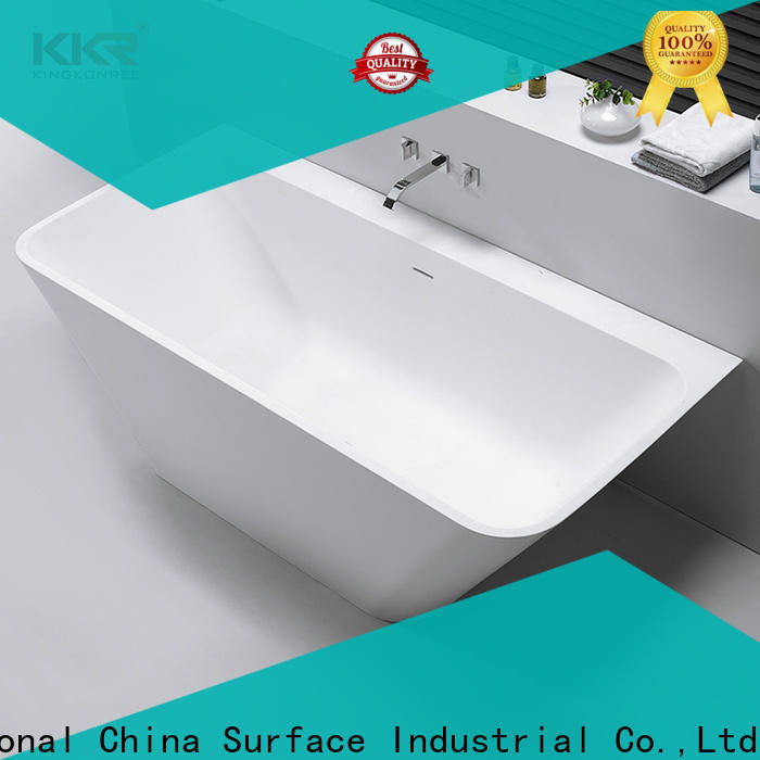 KingKonree standard solid surface bathtub free design for family decoration