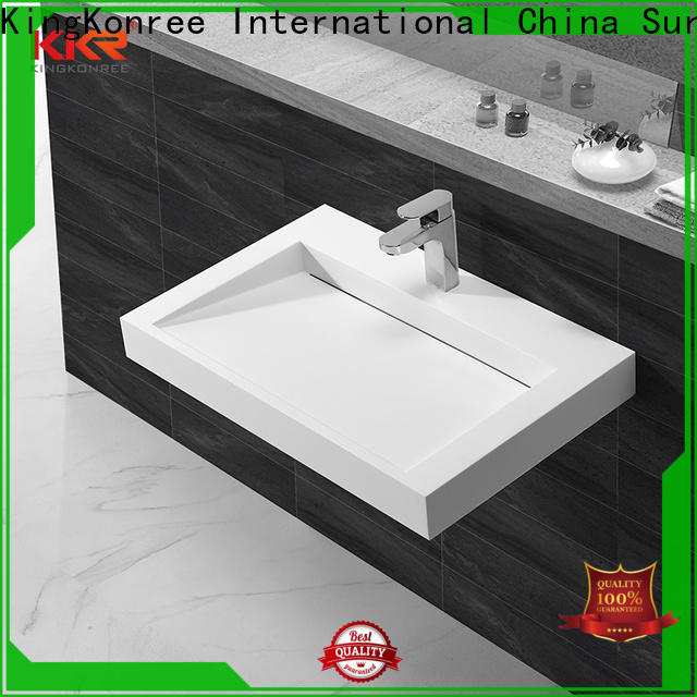 KingKonree double stylish wash basin design for bathroom