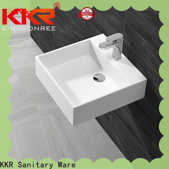 KingKonree artificial wall hung cloakroom basin design for home