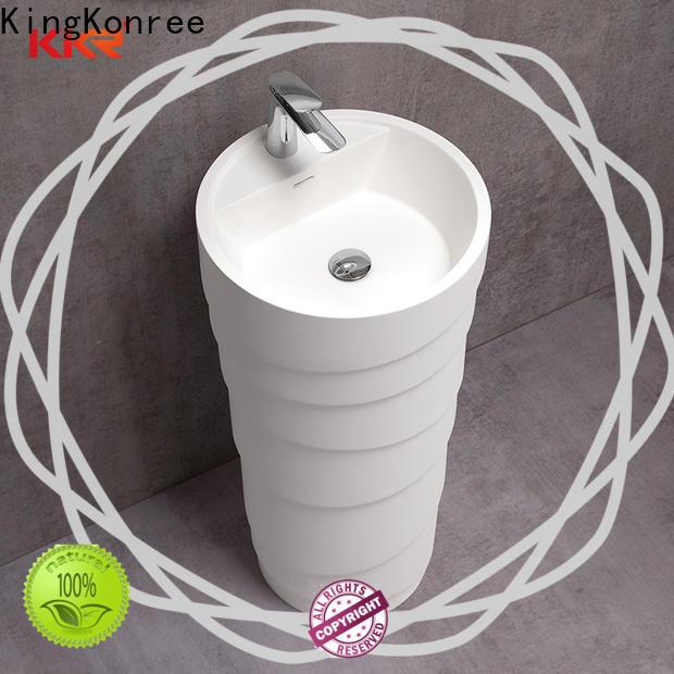 resin freestanding basin supplier for motel