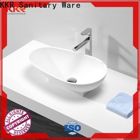 KingKonree above counter sink bowl cheap sample for hotel