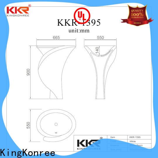 KingKonree stand alone bathroom sink manufacturer for bathroom
