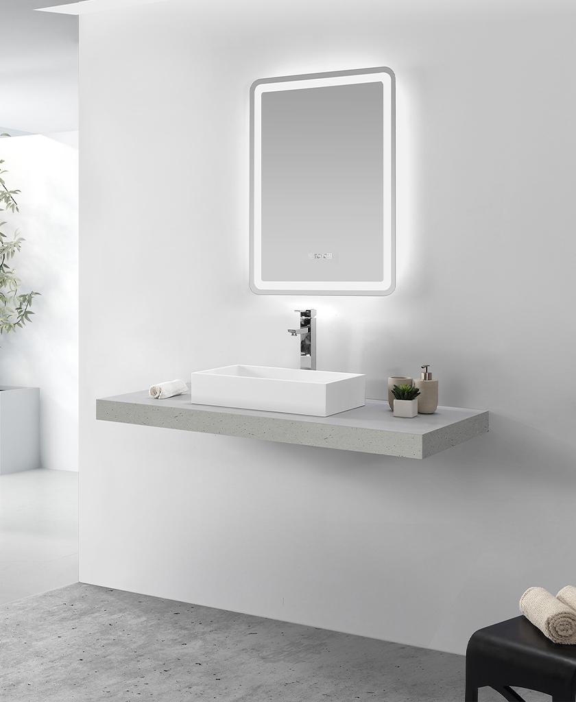 elegant top mount bathroom sink cheap sample for home-1