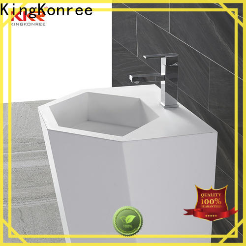 KingKonree rectangle free standing wash basin customized for hotel