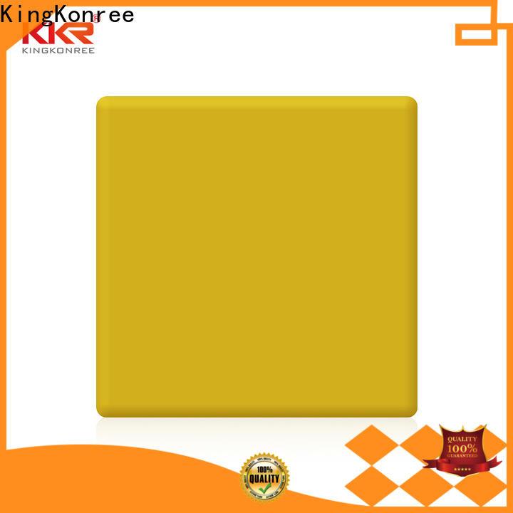 KingKonree black solid surface countertops cost supplier for restaurant