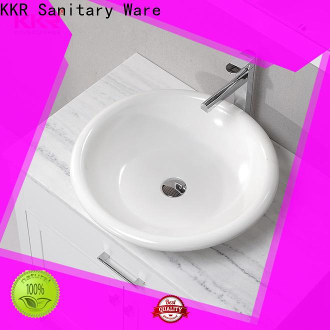 KingKonree elegant above counter vessel sink supplier for hotel