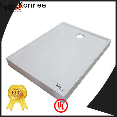 KingKonree stone resin shower tray design for bathroom