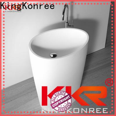 KingKonree resin free standing wash basin factory price for hotel