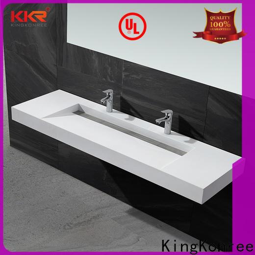 KingKonree bathware wall hung wash basin sink for toilet