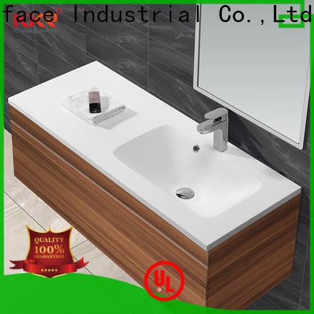 KingKonree royal small wash basin with cabinet supplier for toilet