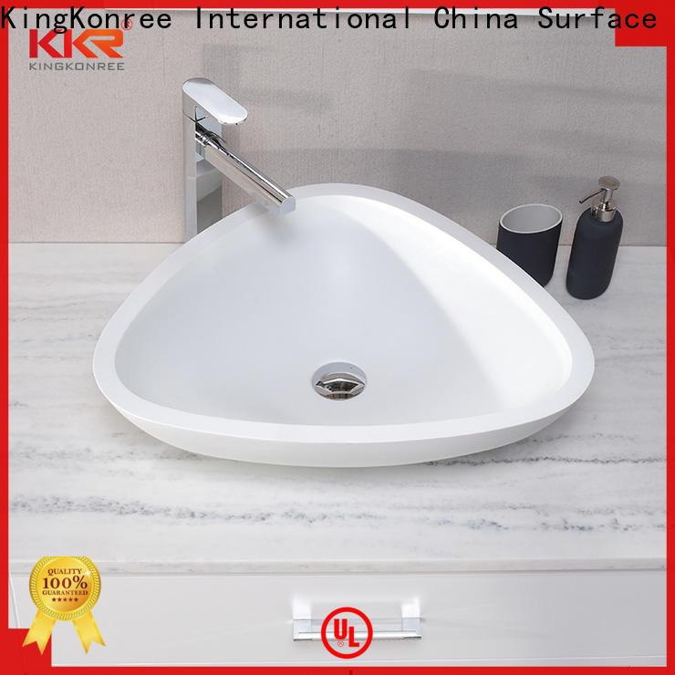 KingKonree durable above counter basins design for room