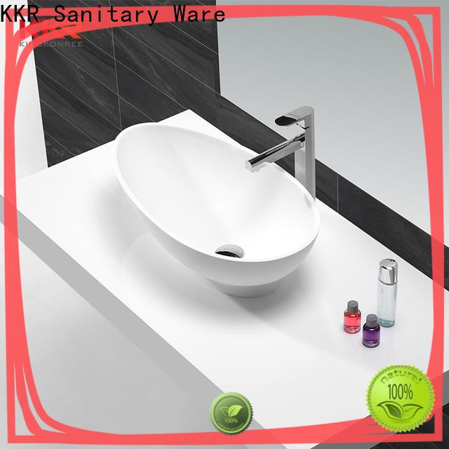 KingKonree black above counter vessel sink design for hotel