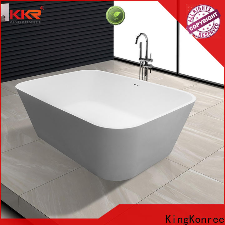 high-end solid surface freestanding tub at discount