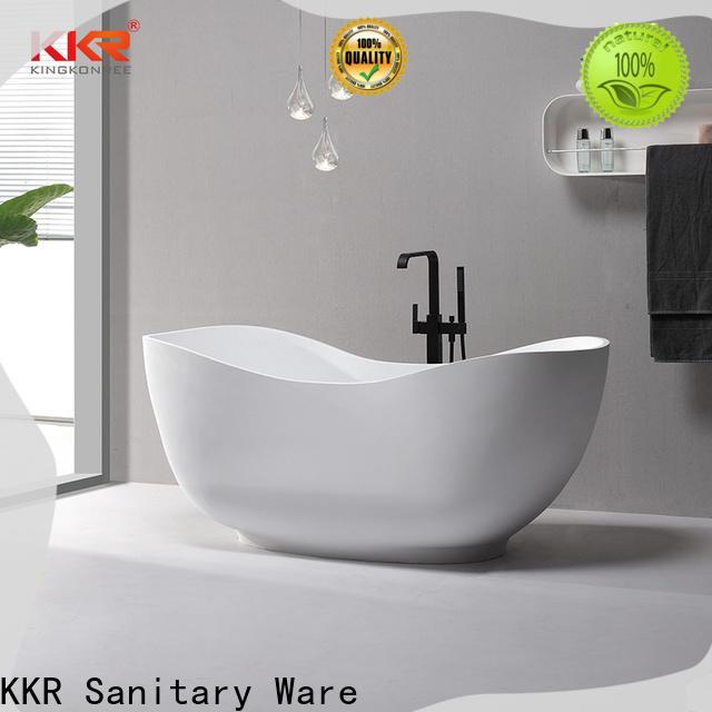 KingKonree white freestanding soaking bathtub OEM for shower room
