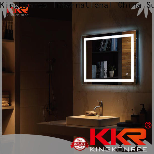 KingKonree large vanity mirror customized design for toilet