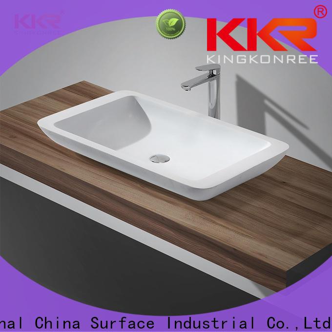 elegant above counter sink bowl kkr1519 cheap sample for hotel