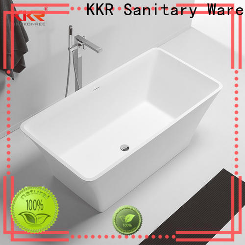bulk production stone resin bathtub kkrb086 free design for hotel