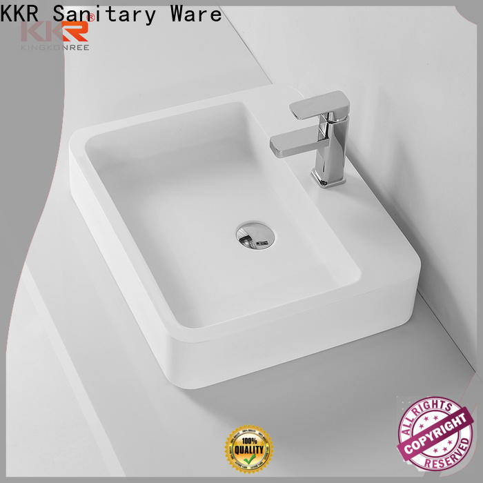 KingKonree above counter vessel sink customized for hotel