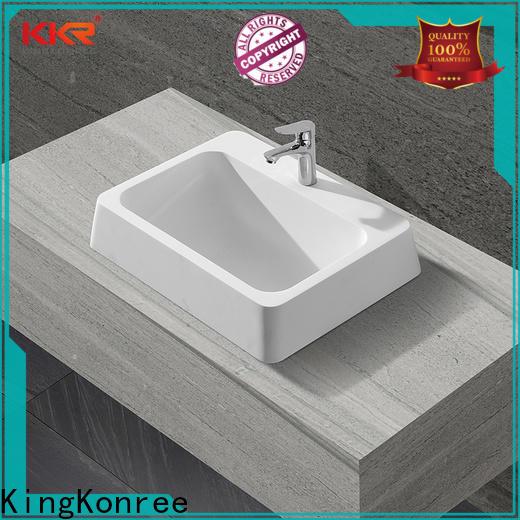 KingKonree solid surface wash basin on-sale for family