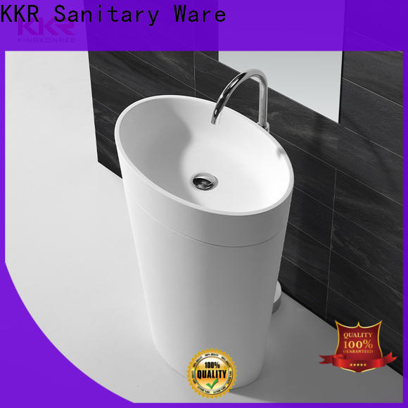 marble free standing wash basin factory price for bathroom