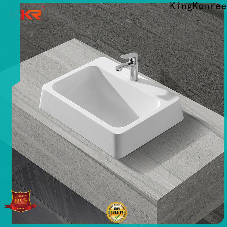 KingKonree small countertop basin design for hotel