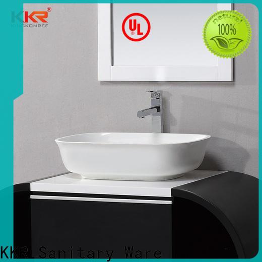 KingKonree pure above counter sink bowl design for hotel
