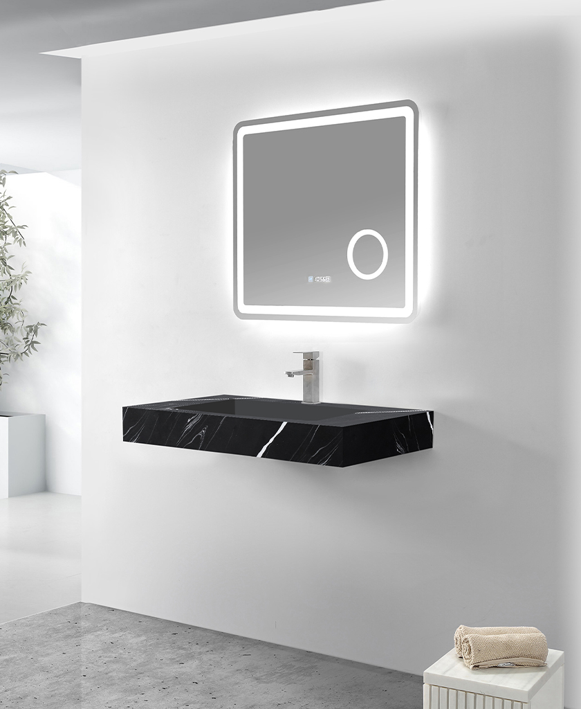 rectangle wall hung basin manufacturer for bathroom-1