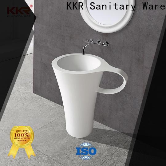 KingKonree artificial freestanding pedestal sink supplier for hotel