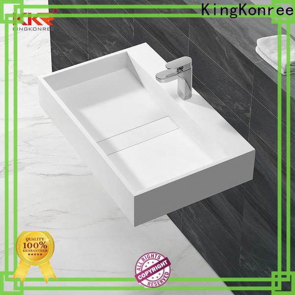 KingKonree concrete wall mounted wash basins design for bathroom