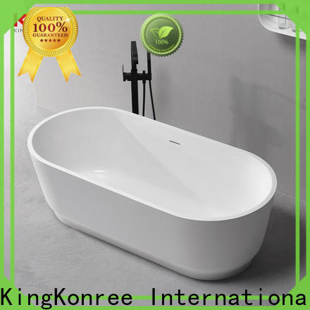 KingKonree bulk production solid surface freestanding tub at discount for shower room