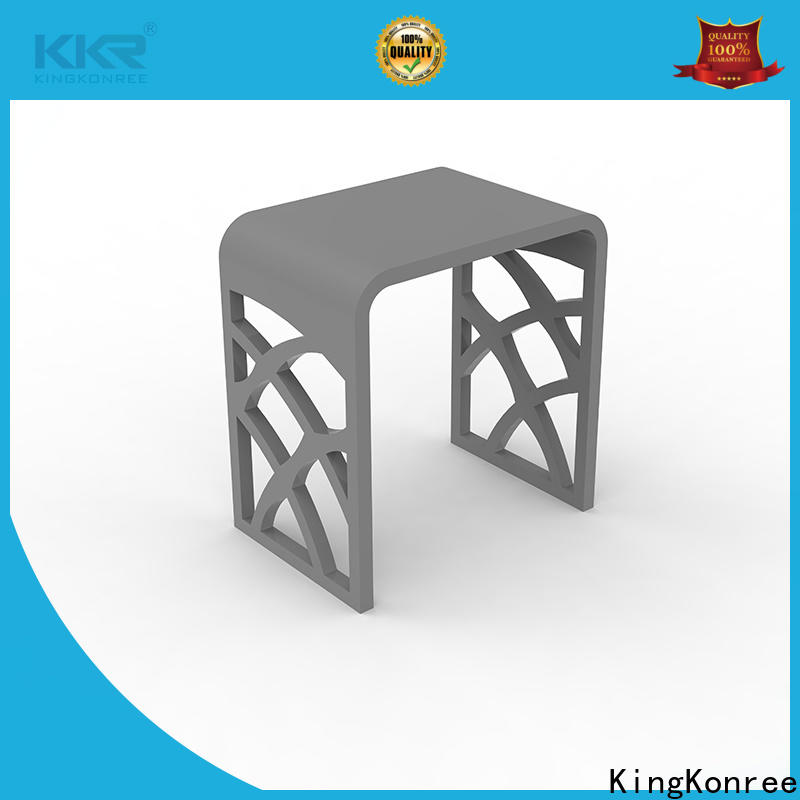 white small bathroom stool customized for room