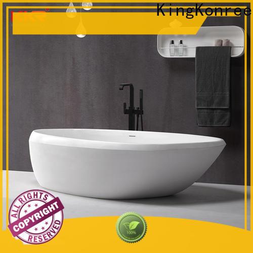 KingKonree finish rectangular freestanding bathtub custom for shower room