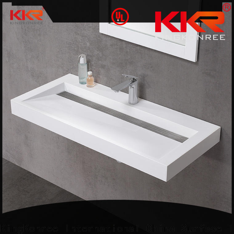 KingKonree acrylic wall basin sink for toilet
