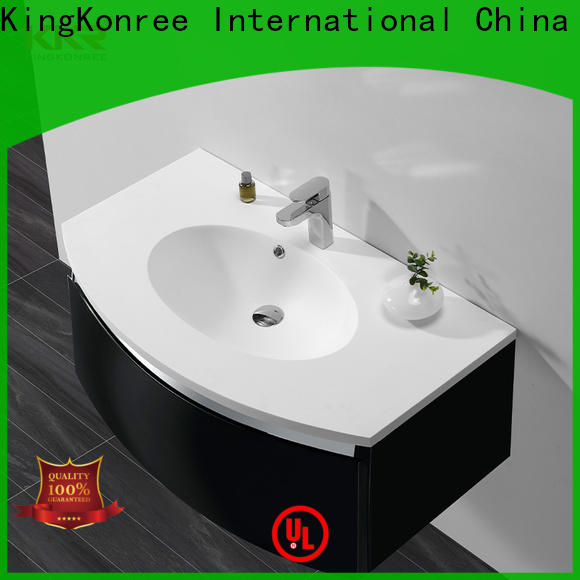stable wash basin with cabinet hindware customized for hotel