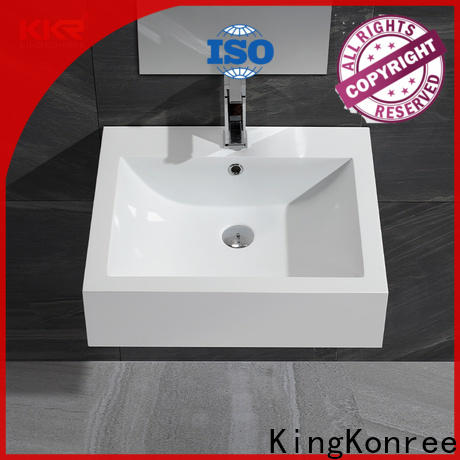 KingKonree professional solid surface wash basin highly-rated for family