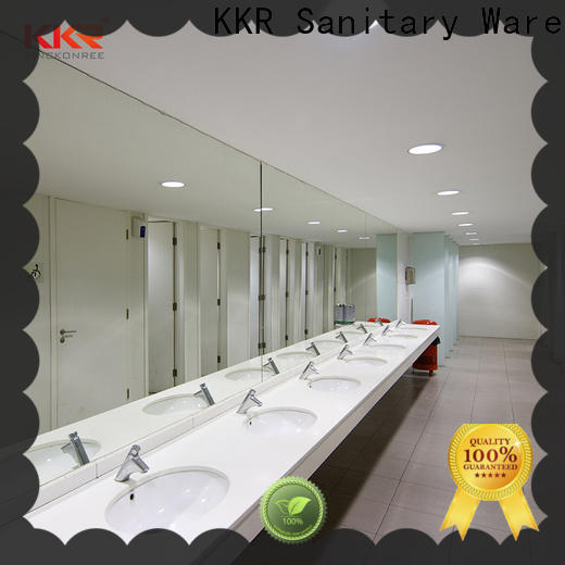 KingKonree integrated solid surface bathroom countertops latest design for motel