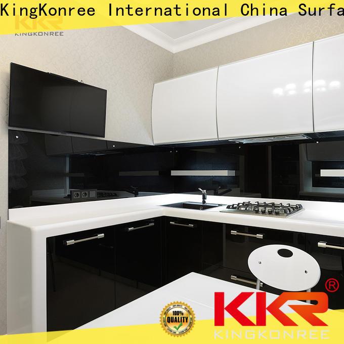 KingKonree circle solid surface kitchen worktops manufacturer for home