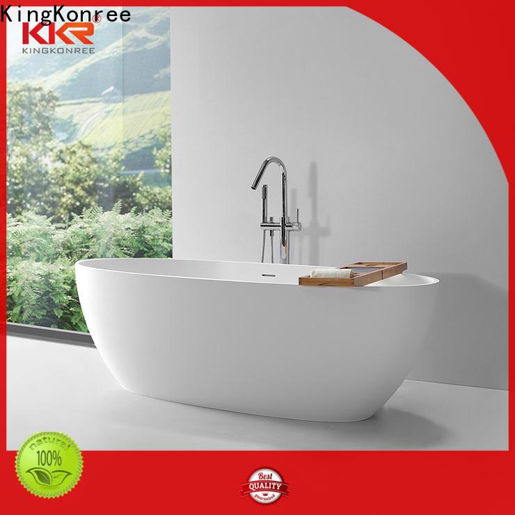 KingKonree white stone resin bath OEM for hotel