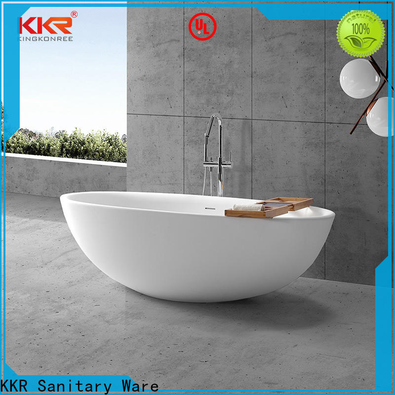 KingKonree round freestanding bathtub OEM for hotel